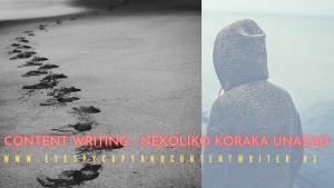 Content writing – Nekoliko koraka unazad