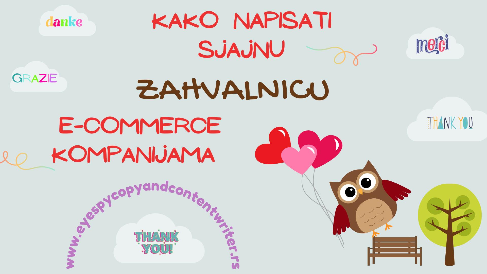 Kako napisati sjajnu zahvalinicu e-commerce kompanijama